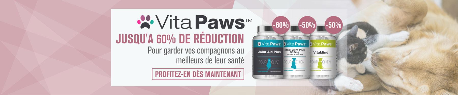 VitaPaws - Jusqu'a 60% de réduction