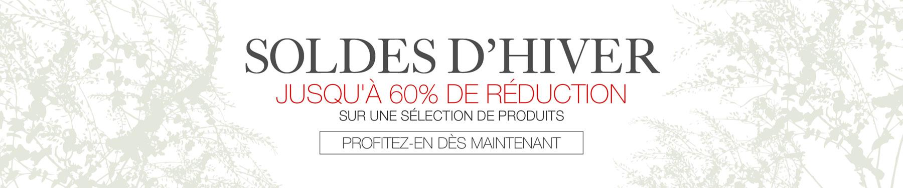 Soldes D'Hiver - Jusqu'à 60% de reduction sur une sélection de produits