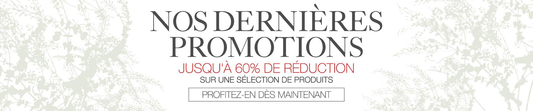 Nos dernières promotions - Jusqu'à 60% de réduction sur une sélection de produits