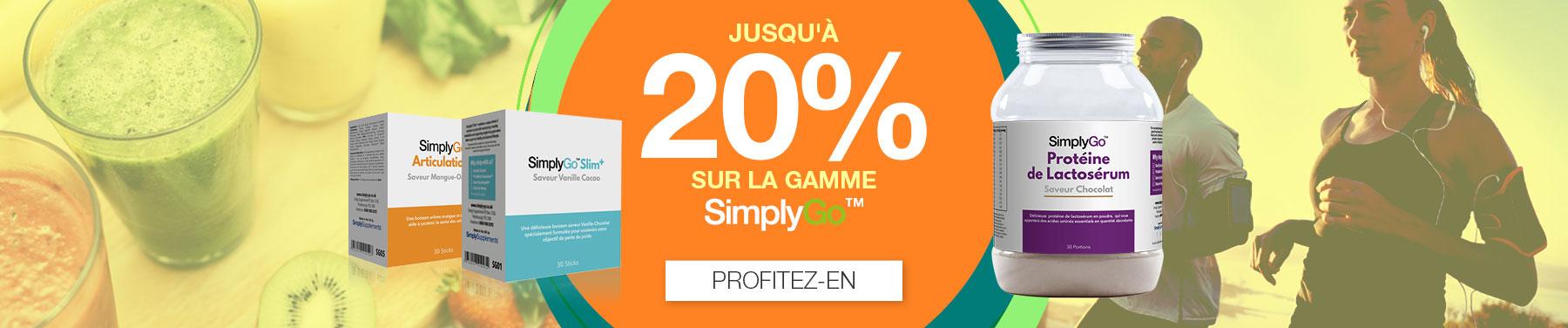 Jusqu'à 20% sur la gamme SimplyGo
