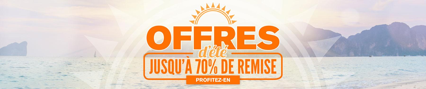 Offres d'été - Jusqu'à 70% de remise