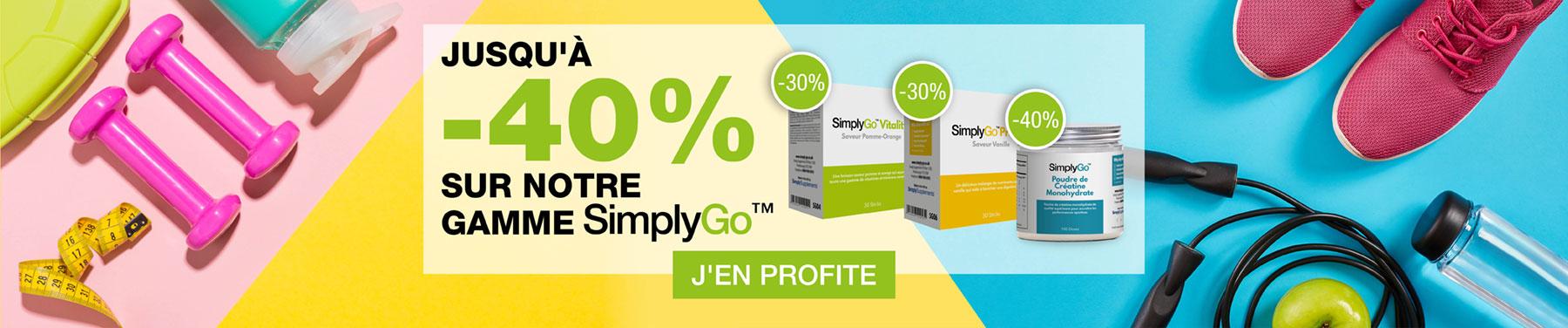 Jusqu'à -40% sur notre gamme SimplyGo