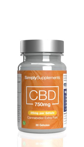 Gélules de CBD 750mg (25mg par dose)