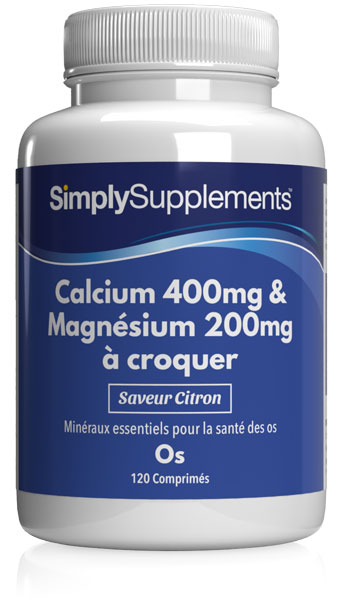 Calcium et Magnésium à Croquer (Saveur Citron)