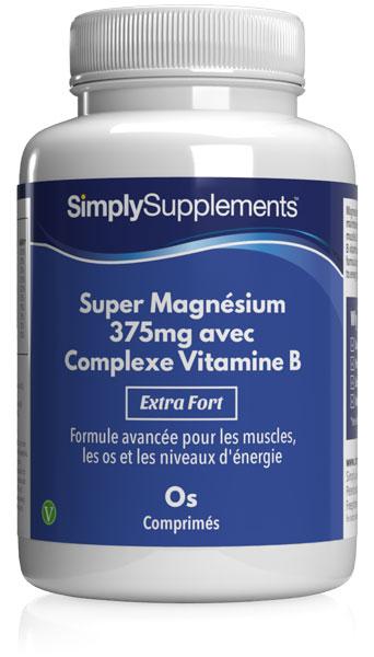 Super Magnésium 375mg avec Complexe Vitamine B