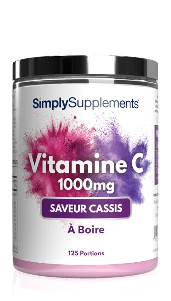Vitamine C 1000mg à Boire - Saveur Cassis