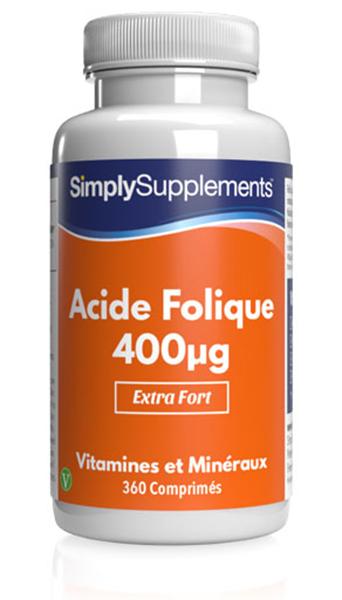 Acide folique (Vitamine B9) 400µg