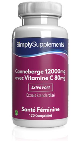 Canneberge 12000mg | Vitamine C 80mg