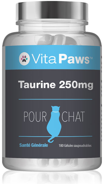 Taurine 250mg pour chat